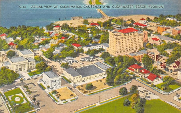 Aerial View of Clearwater, FL, USA Florida Postcard
