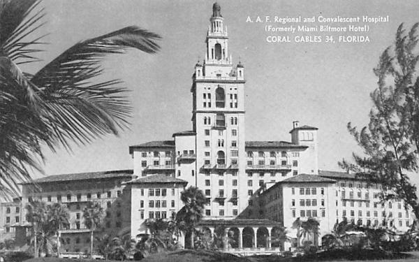A. A. F. Regional and Convalescent Hospital Coral Gables, Florida Postcard