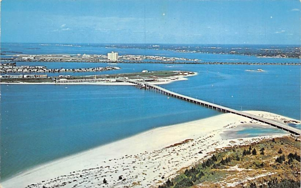 Clearwater Pass Bridge Florida Postcard