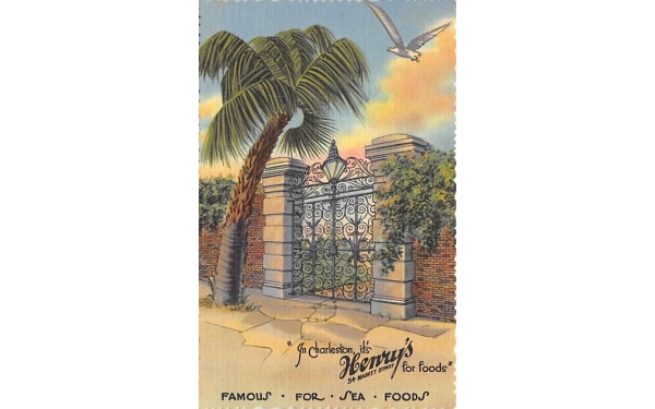 In Charleston its' Henry's for foods Florida Postcard