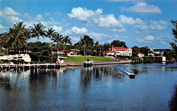 Coral Gables waterway Florida Postcard