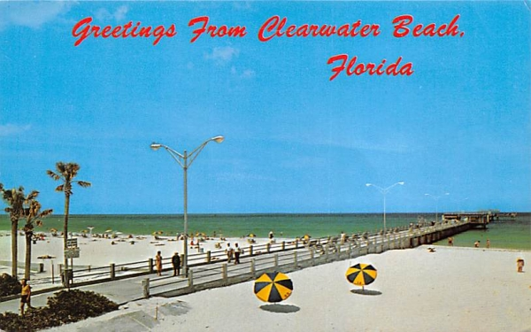 Greetings from Clearwater Beach, FL, USA Florida Postcard