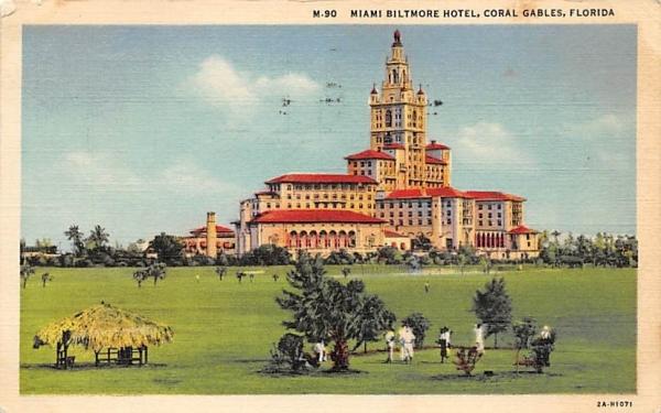 Miami Biltmore Hotel Coral Gables, Florida Postcard