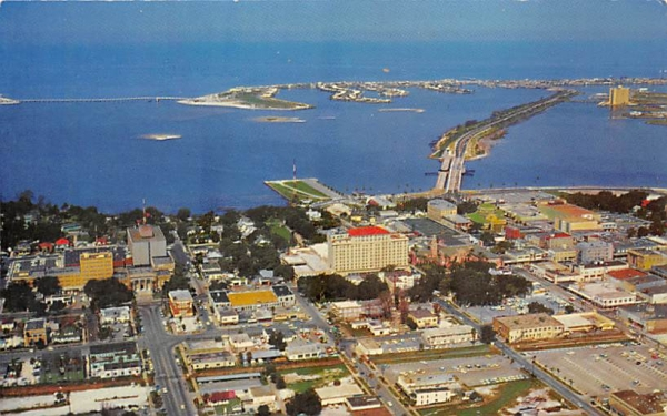 Air View of Downtown Clearwater, FL, USA Florida Postcard