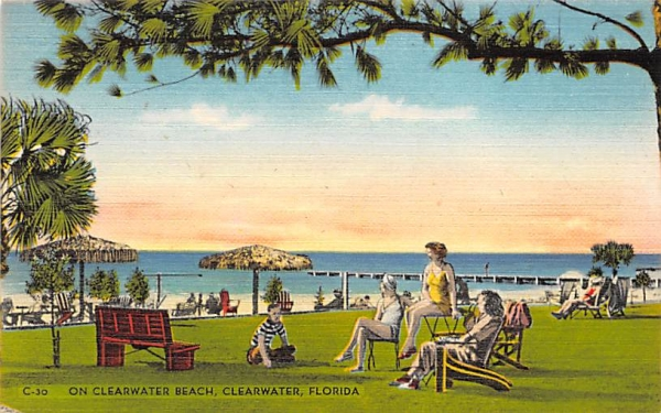 On Clearwater Beach Florida Postcard