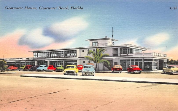Clearwater Marina Clearwater Beach, Florida Postcard