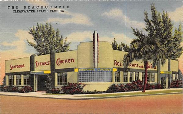 The Beachcomber Clearwater Beach, Florida Postcard