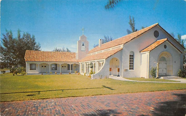 The little white church by the sea Clearwater Beach, Florida Postcard