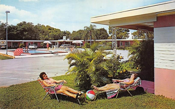 Clearwater Bay Motel Florida Postcard