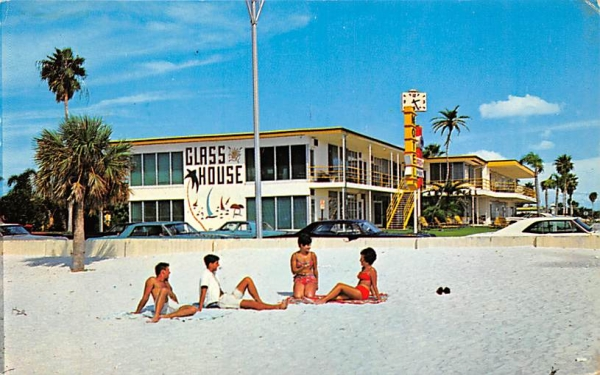 Glass House Apartment Motel Clearwater Beach, Florida Postcard