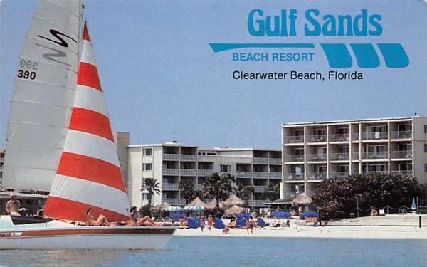Gulf Sands Beach Resort Clearwater Beach, Florida Postcard