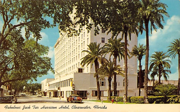 Fabulous Jack Tar Harrison Hotel Clearwater, Florida Postcard