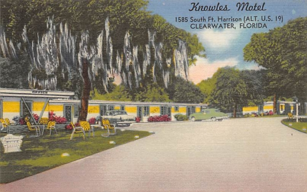 Knowles Motel Clearwater, Florida Postcard