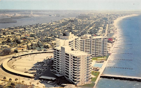 Air View of Clearwater Beach, FL, USA Florida Postcard