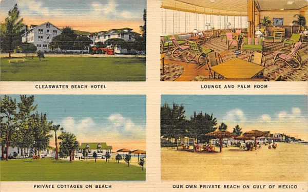 Clearwater Beach Hotel Florida Postcard