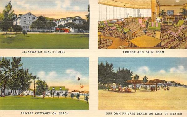 Clearwater Beach Hotel Florida Postcard