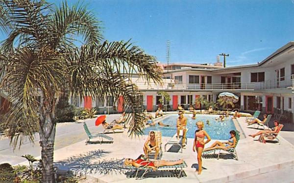 Sea Air Motel Clearwater Beach, Florida Postcard