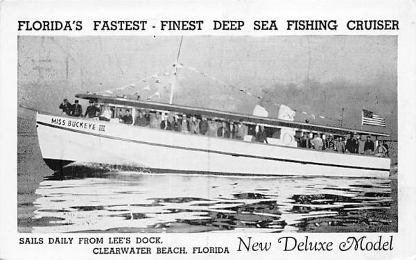 Florida's Fastest - Finest Deep Sea Fishing Cruiser Postcard