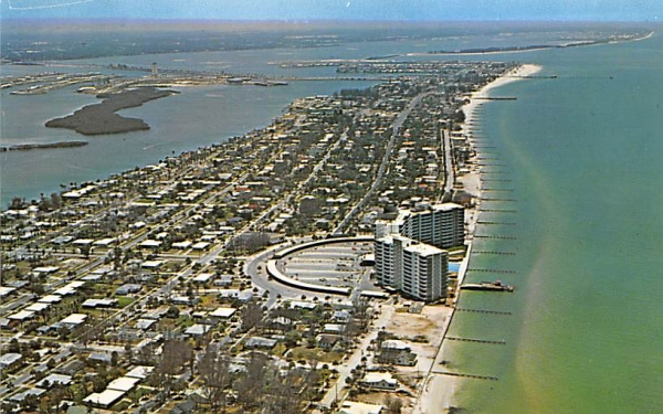 Airview of Clearwater Beach, FL, USA Florida Postcard
