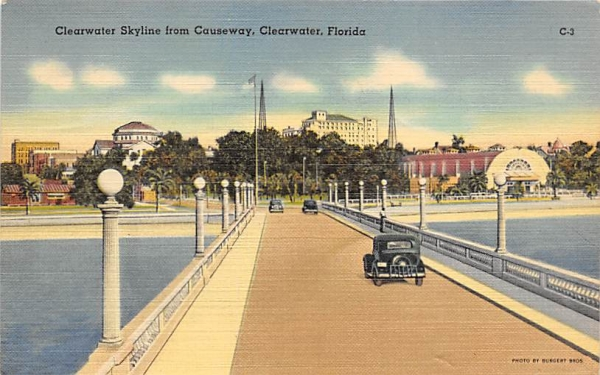 Clearwater Skyline from Causeway Florida Postcard