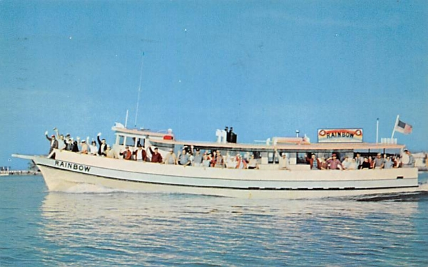 Rainbow Party Boat Clearwater Beach, Florida Postcard
