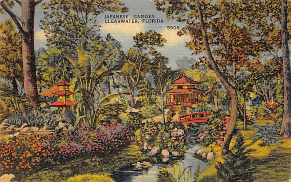 Japanese Garden Clearwater, Florida Postcard