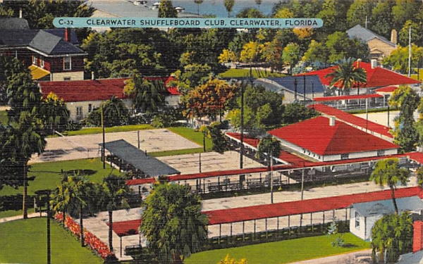 Clearwater Shuffleboard Club Florida Postcard