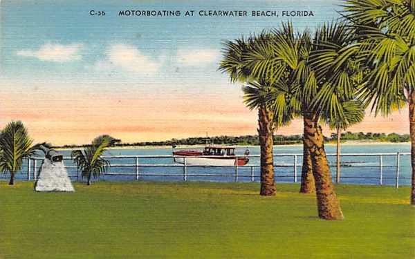 Motorboating at Clearwater Beach, FL, USA Florida Postcard