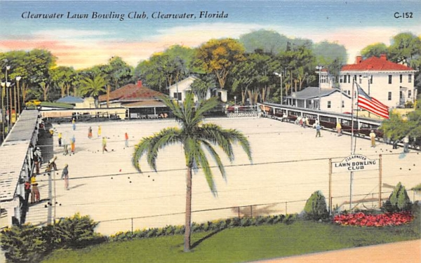 Clearwater Lawn Bowling Club Florida Postcard
