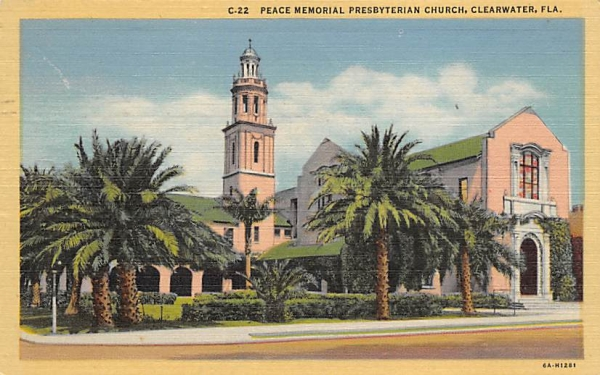 Peace Memorial Presbyterian Church Clearwater, Florida Postcard