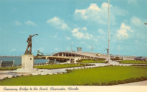 Causeway Bridge to the Beach Clearwater, Florida Postcard