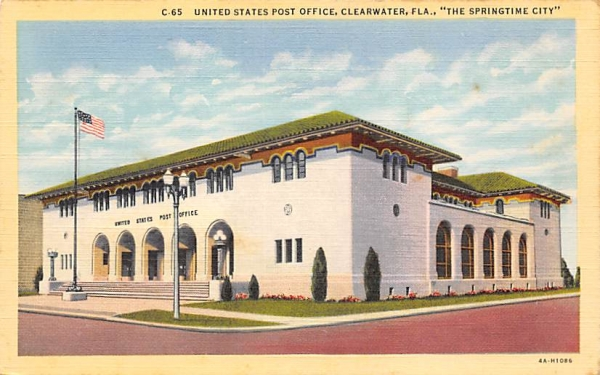 United States Post Office Clearwater, Florida Postcard
