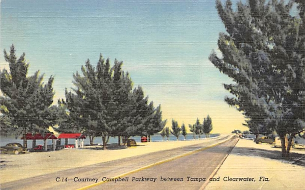 Courtney Campbell Parkway Clearwater, Florida Postcard