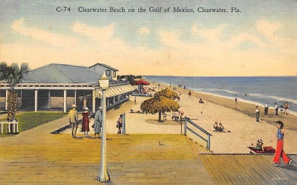 Clearwater Beach on the Gulf of Mexico Florida Postcard