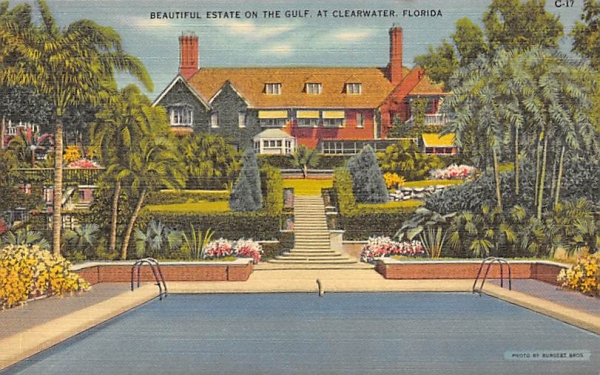 Beautiful Estate on the Gulf Clearwater, Florida Postcard