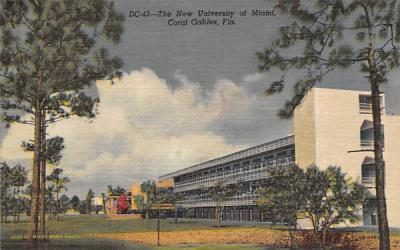 The New University of Miami Coral Gables, Florida Postcard