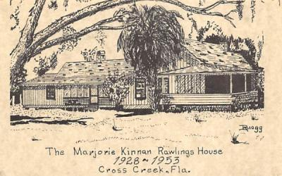 The Marjorie Kinnan Rawlings House Cross Creek, Florida Postcard