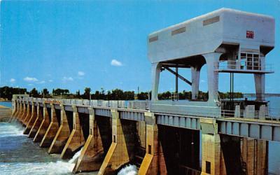 Jim Woodruff Lock and Dam on the Apalachicola River Chattahoochee, Florida Postcard