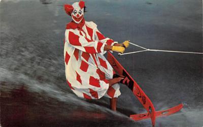 Corky the Clown   Cypress Gardens, Florida Postcard