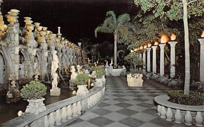 A Night Scene of the North Garden at Kapok Tree Inn Clearwater, Florida Postcard