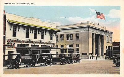 Banks of Clearwater, FL, USA Florida Postcard
