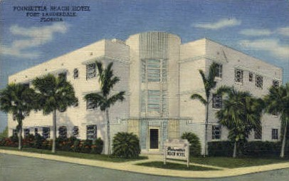 Poinsettia Beach Hotel - Fort Lauderdale, Florida FL Postcard