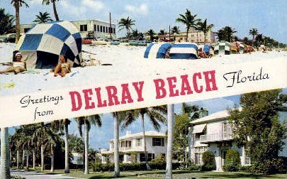 Greetings - Delray Beach, Florida FL Postcard