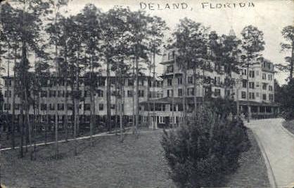 College Arms Hotel - De Land, Florida FL Postcard