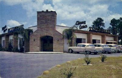 Chimney Corner Restaurant - De Land, Florida FL Postcard
