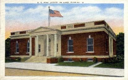 Post Office - De Land, Florida FL Postcard