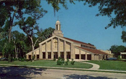 Baptist Church - De Land, Florida FL Postcard