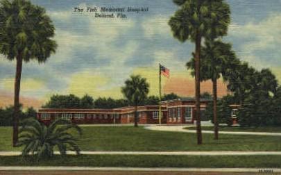 Fish Memorial Hospital - De Land, Florida FL Postcard