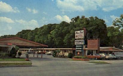 Mar Del Motel - De Land, Florida FL Postcard