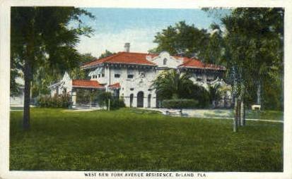 New York Avenue - De Land, Florida FL Postcard